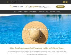 Kernow Travel website hompage